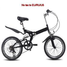 20inch folding mountain bike 6 variable speed bicycle road bike male and female