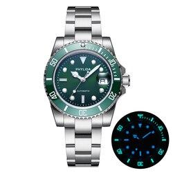 100m Water-resistant 40mm Men's Green Dial Hulk Sub Diver Watch Automatic MIYOTA Sapphire Crystal Lumed Ceramic Bezel Insert