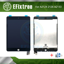 Original nueva pantalla LCD recambio de conjunto de pantalla táctil para iPad Mini 5 A2124 A2126 A2133 LCD Panel digitalizador negro blanco