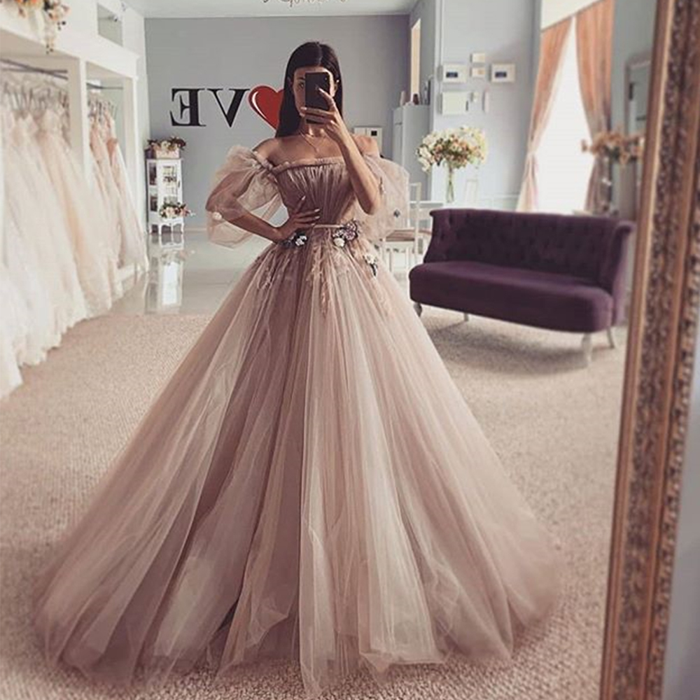 tulle prom dress