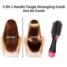 Professional Hot Air Comb One Step Hair Dryer Brush & Volumizer Rotating Electri