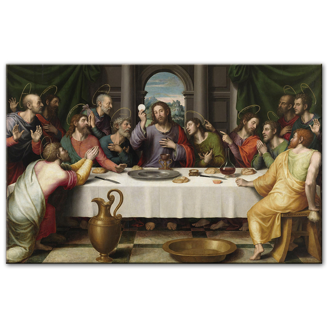 Last Supper Canvas Paintings Reproductions Classical Wall Art Canvas Posters Christian Decorative Pictures Home Decor Cuadros