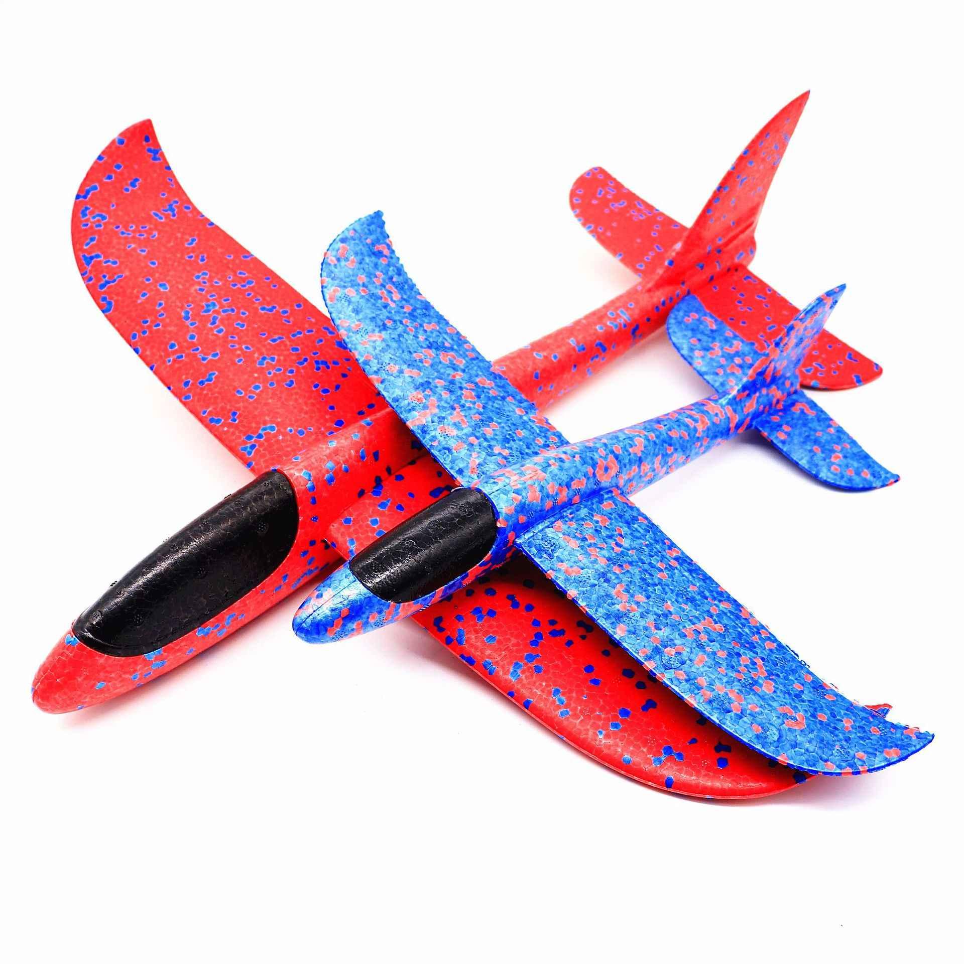 เครื่องร่อนเครื่องบินรุ่นของเล่นร่อนเครื่องบินเด็กมือโยนเครื่องบินกลางแจ้งเปิดตัวGlow Glider Plane Kids Gift Toyของเล่นที่น่าสนใจ