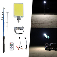 Portable lantern Uber Camping LED plywood Tent Light outdoors Road travel off road lights for cars Repair 4.5m telescopic rod