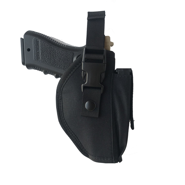 Tactical Pistol Gun Glock Holster with Magazine Pouch Concealed Carry Handgun Holder Fit Most Size for Right Hand 4