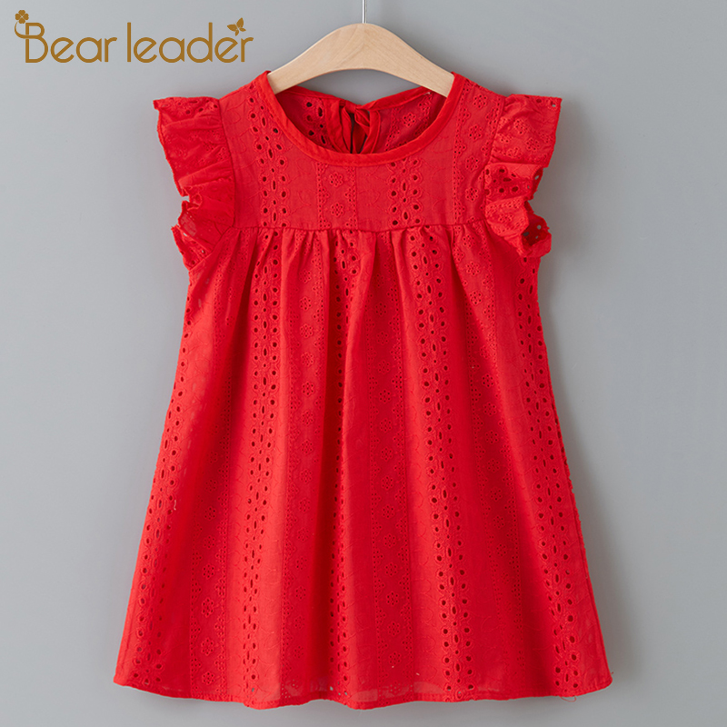 Bear Leader Girls Dress New Summer Brand Girls Dress Casual Kids Princess Dress Hollow Party Dress Children Clothing For 3 7Y