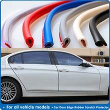U tipo universal guarda borda da porta do carro guarnição estilo proteção moldando tira auto scratch protector para o veículo do carro 1m/5m/10m