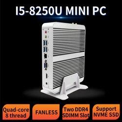 MSECORE 8-го поколения четырехъядерный процессор i5 8250U без вентилятора DDR4 игровой мини-ПК Windows 10 HTPC Настольный компьютер linux intel UHD620 VGA HDMI wifi