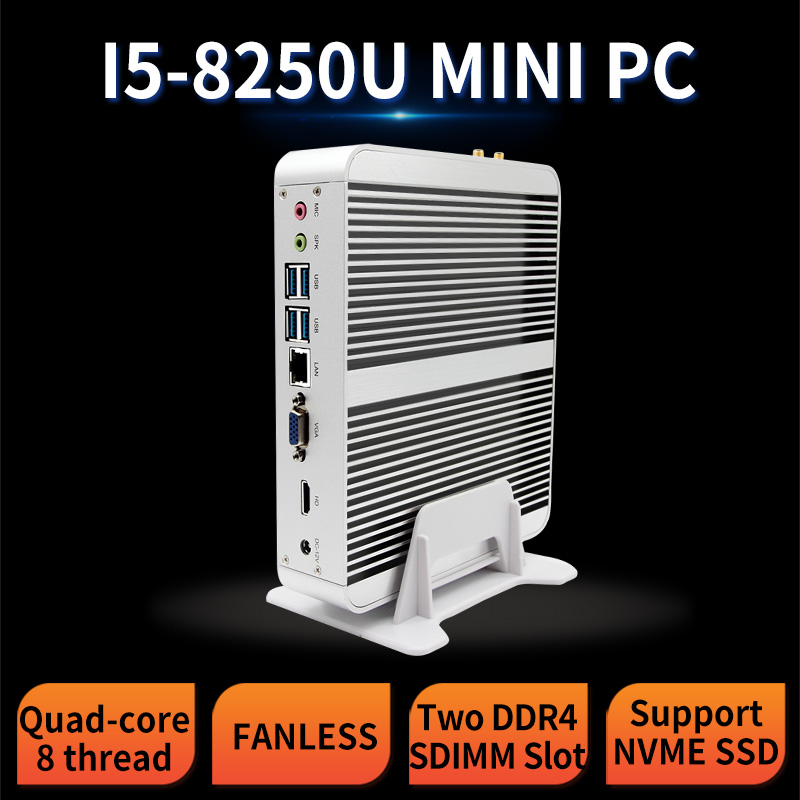 MSECORE 8TH Gen Quad-core I5 8250U Fanless DDR4 Gaming Mini PC Windows 10 HTPC Desktop Computer Linux Intel UHD620 VGA HDMI Wifi