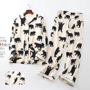 Image 2 - Повседневные пижамные комплекты из 100% хлопка со звездами, мужские уютные пижамы на осень и зиму, мужские пижамы, простые пижамные комплекты