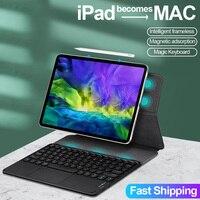 Funda con teclado mágico para iPad Pro 11, cubierta magnética con Bluetooth y panel táctil para iPad Pro 2021, 12,9, 2018, 2020, Air 4, 10,9