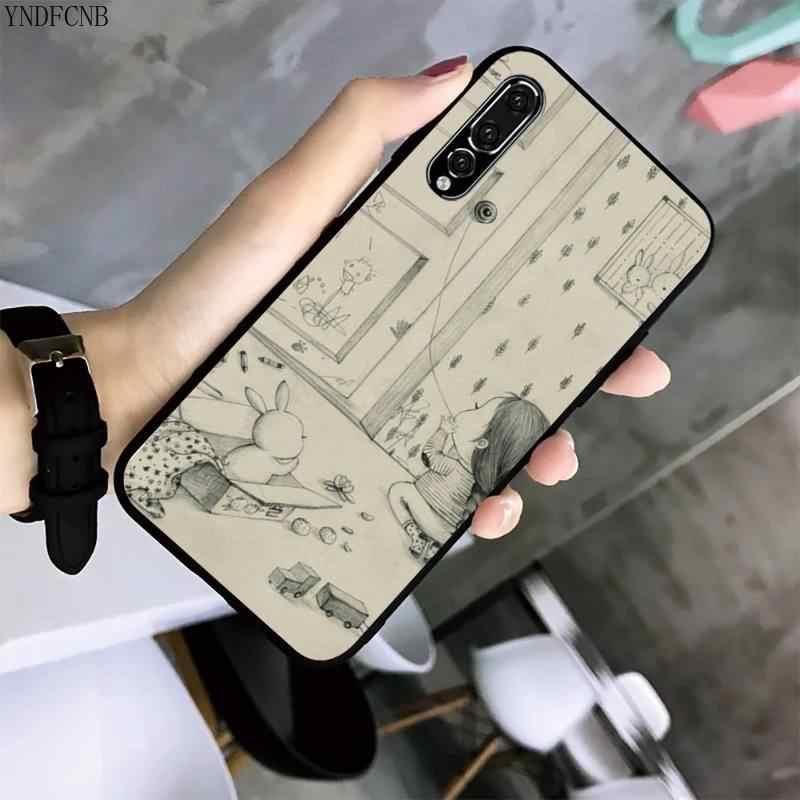 YNDFCNB irl и ее Кролик чехол для телефона Huawei P20 P30 P20Pro P20Lite P30Lite PSmart P10 9Lite