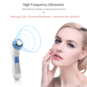 5 In 1 Ultrasonic Skin Rejuvenation Instrument High Frequency Ion Vibration Skin Tightening Deep Cleaning Acne Shrink pores USB