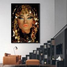 Блестящая золотая картина для макияжа женщин живопись украшения
