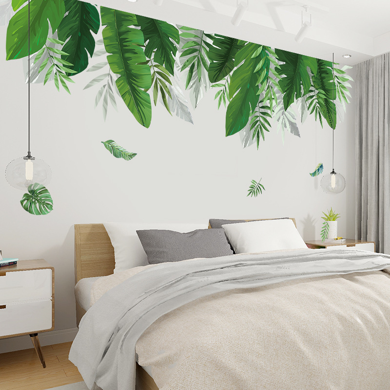 Tropical plants Banana leaf Wall Stickers for Living room Bedroom Eco-friendly Vinyl Wall Decals Art Murals Poster Home Decor