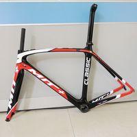 Letzten 700C 54/56cm road rahmen fahrrad carbon rahmen mit gabel sattelstütze matt/glänzend carbon road fahrrad rahmen racing fahrrad rahmen|Fahrradrahmen|Sport und Unterhaltung -