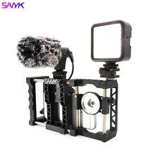 Sanyk handheld telefone estabilizador quadro suporte de vídeo vlog fotografia suporte universal caso lente do telefone