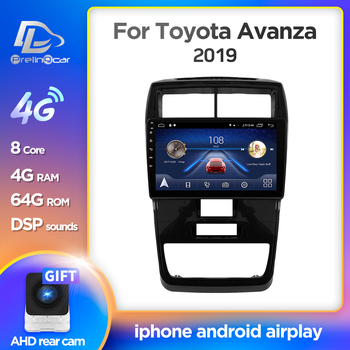 Prelingcar Android 10.0 For TOYOTA Avanza 2019 Car Radio Multimedia Video Player GPS Navigation NO 2 din DVD Octa-Core IPS image