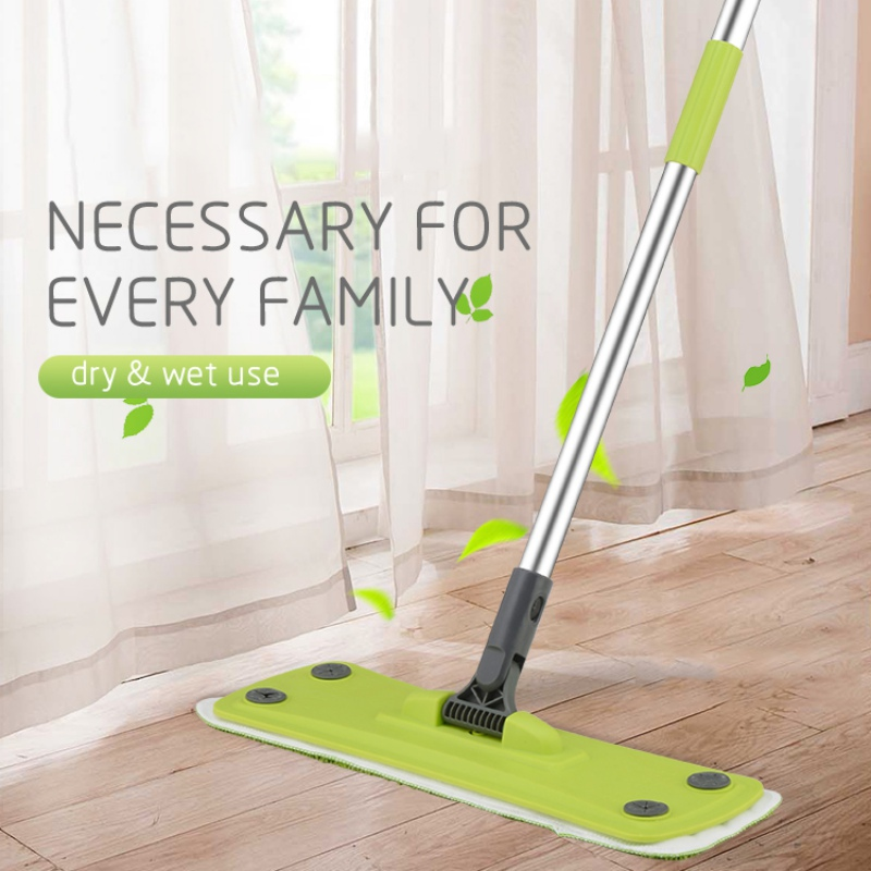 New Household Dust Sweeping Tile Wood Floor Mops Wet Dry Flat Mops Hardwood Floor Mop Flat Mop Pads Home Cleaning Tools- image