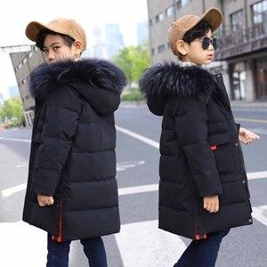 Image 2 - OLEKID 2019 30 Graden Rusland Winter Kinderen Jongens Jas Hooded Warm Down Jas Voor Jongen 7 14 Jaar tiener Jas Kinderen Parka