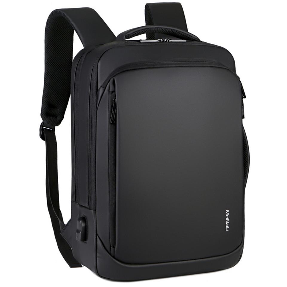 Litthing Laptop Backpack Mens Male Backpacks Business Notebook Mochila Waterproof USB Charging Bags Multifunctional Travel Bags