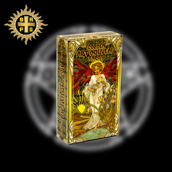 BRPG Golden Art Nouveau Tarot Cards with Guidebook Cards Occult Divination Book Sets for Beginners Classic Art Nouveau Style цена 2017