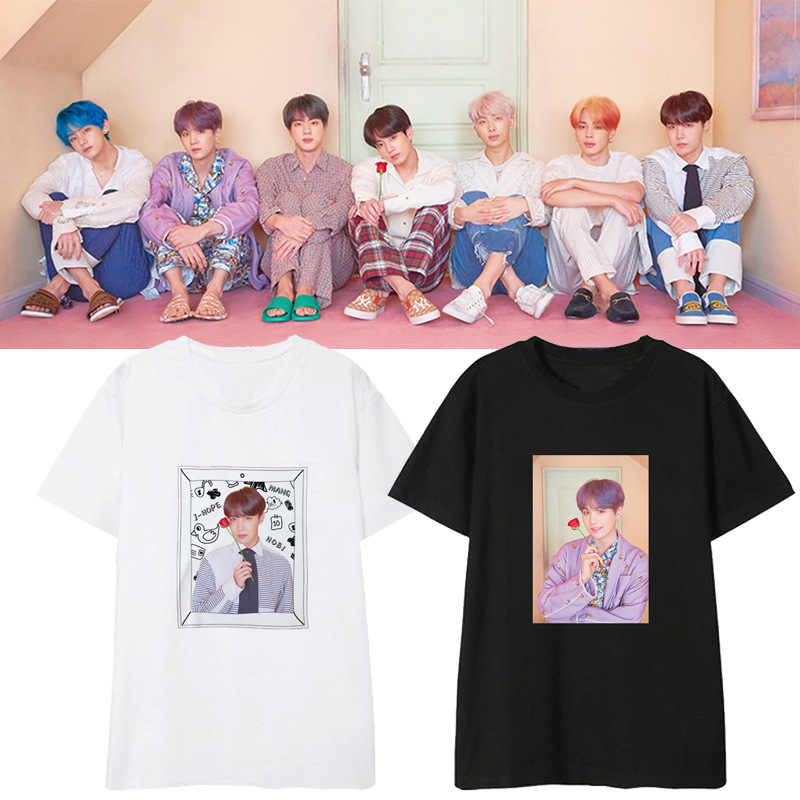 2019 Bangtan Boys Surrounding t shirt women/men MAP OF THE SOUL PERSONA tshirt tops womens clothes Short sleeve tees