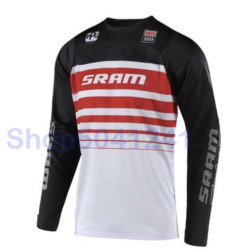 SRAM Outdoor Bicycle jersey crossmax moto Jerseys motocross mx bike mtb t-shirt summer downhill long sleeve cycling clothes