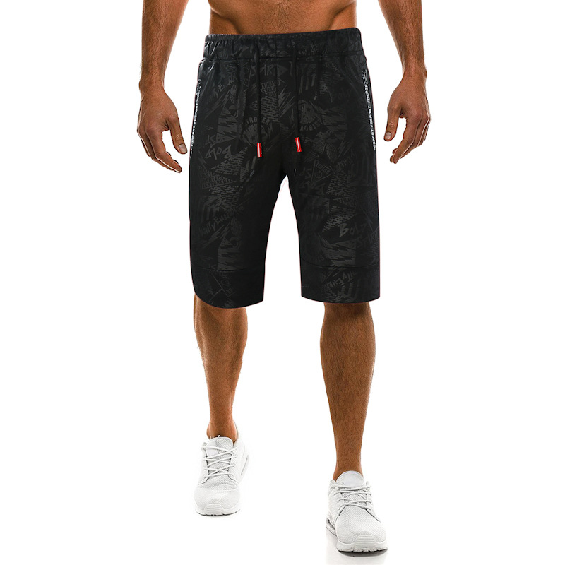 Men's Trousers 2018 Summer New Style Men Cool Camouflage Printed Webbing Joint Casual Shorts Shorts 7449