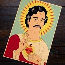 Los Narcos Colombia Pablo Escobar Dios cartel de retrato de mujer T/clase camisa/Camiseta tipo mujeres de suave camiseta ser amable Kraft Vintage lona DIY etiqueta de la pared de Casa carteles para Bar Decoración