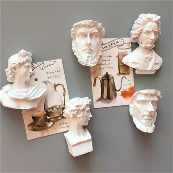 Creative Portrait Sculpture Fridge Magnets Art Beethoven Refrigerator Sticker 3D Resin Christmas Home Decoration 1pc 1