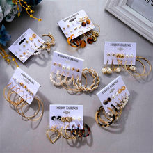 Винтажные жемчужные акриловые серьги капли для женщин набор