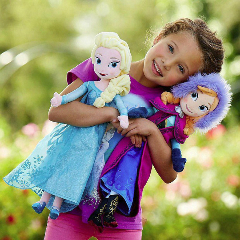 Kids Toys Dolls Frozen Stuffed Christmas-Gift Snow-Queen Birthday Anna Princess 50cm