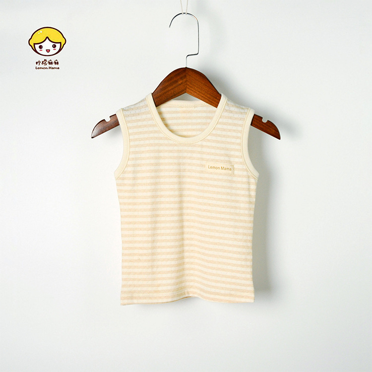 Baby Colored Cotton I-shaped Vest Mesh Thin Summer BOY'S Girls T-shirts Infant Base Small Vest