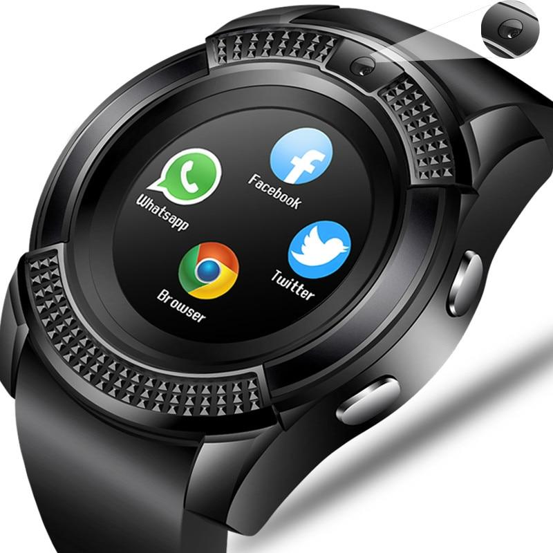 Tüketici Elektroniği'ten Akıllı Saatler'de Erkekler kadınlar akıllı saat kol saati desteği kamera Bluetooth ile SIM TF kart Smartwatch Android telefon için sevgili saati + kutusu PK y1 title=