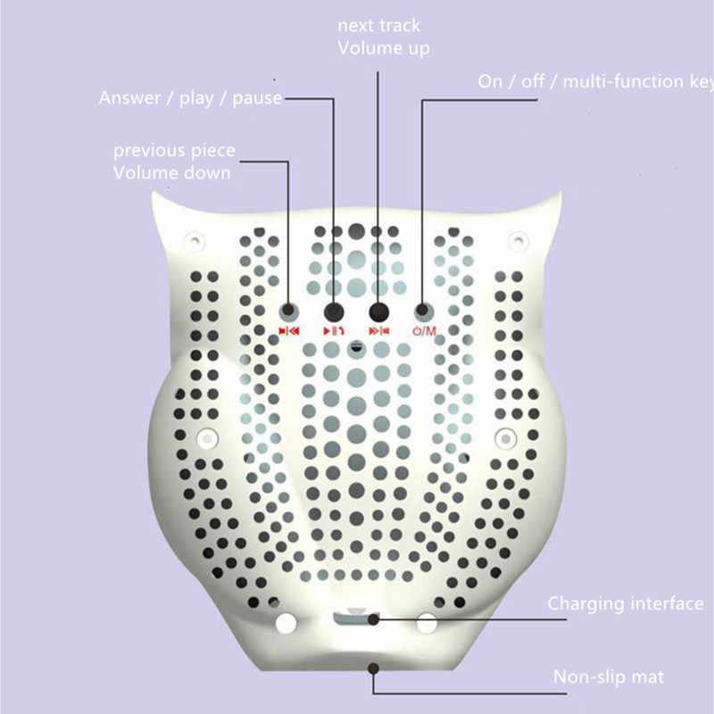 Uil Bluetooth Speaker Draadloze Telefoon Kleine Stereo Fm Radio Call Functie Subwoofer Draagbare Huishoudelijke Waterdichte ColorlightF4066