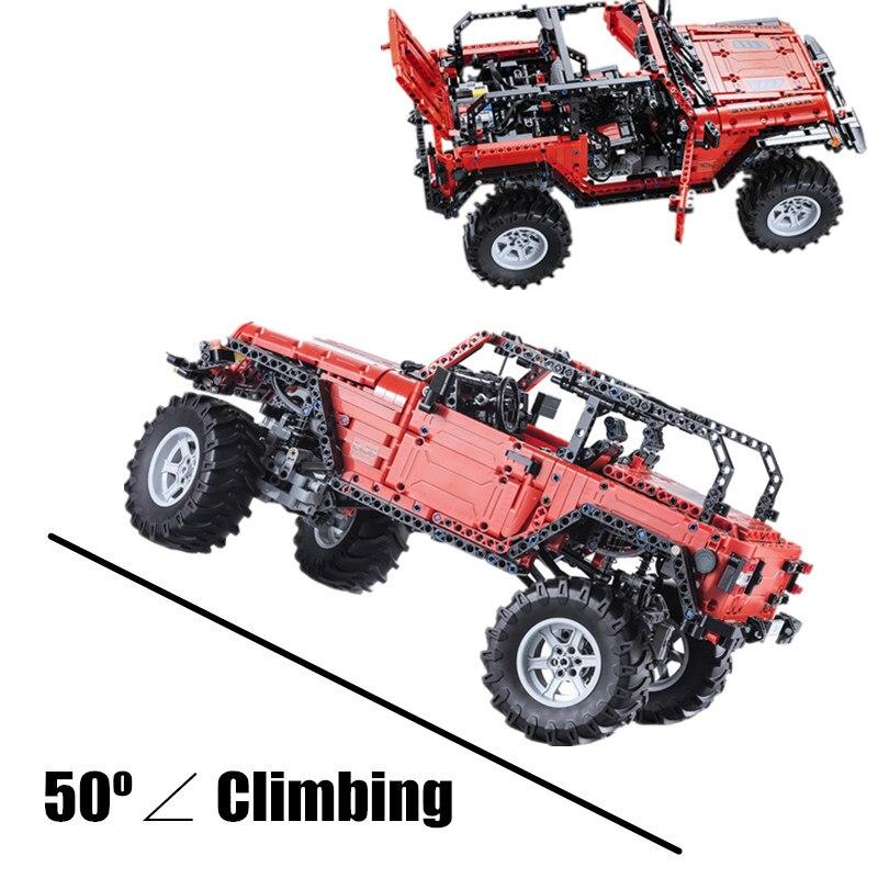 Nuovo MOC Jeep Avventuriero LED RC di Potenza del Motore Funzione Misura Legoings Technic Building Block Mattoni Del Veicolo Auto Giocattolo Del Capretto Gft-in Blocchi da Giocattoli e hobby su  Gruppo 2