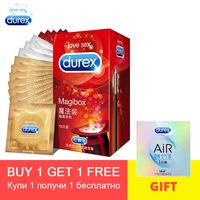 Durex Condom Magicbox 18Pcs/pack 4 Types Natural Latex Ultra Thin Smooth Pink Condoms Intimate Penis Sleeve Sex Goods For Men
