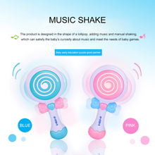 Early Childhood Education Swing Lollipop Toy Baby Music Rocking Toy Puzzle Rattle Cute Shaking Mobile Phone ou fs8 multifunction early childhood educational music robot toy w interaction led white pink