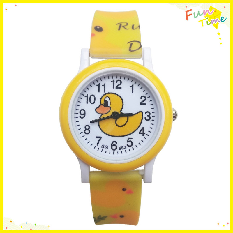 Dropshipping New Cartoon Duck Girls Watches Kids Daily Waterproof Boy Watch Children Students Clock Electronic Quartz Wristwatch