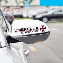Estilo de coche Universal 1 par pegatinas de espejo retrovisor de coche paraguas Corporation impermeable coche pegatina para coche