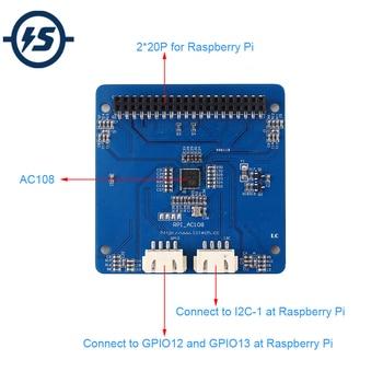 AC108 Intelligent Voice Recognizer Audio Decoder Module 12pcs APA102 RGB LED Shield Four MIC Input for Raspberry Pi фото