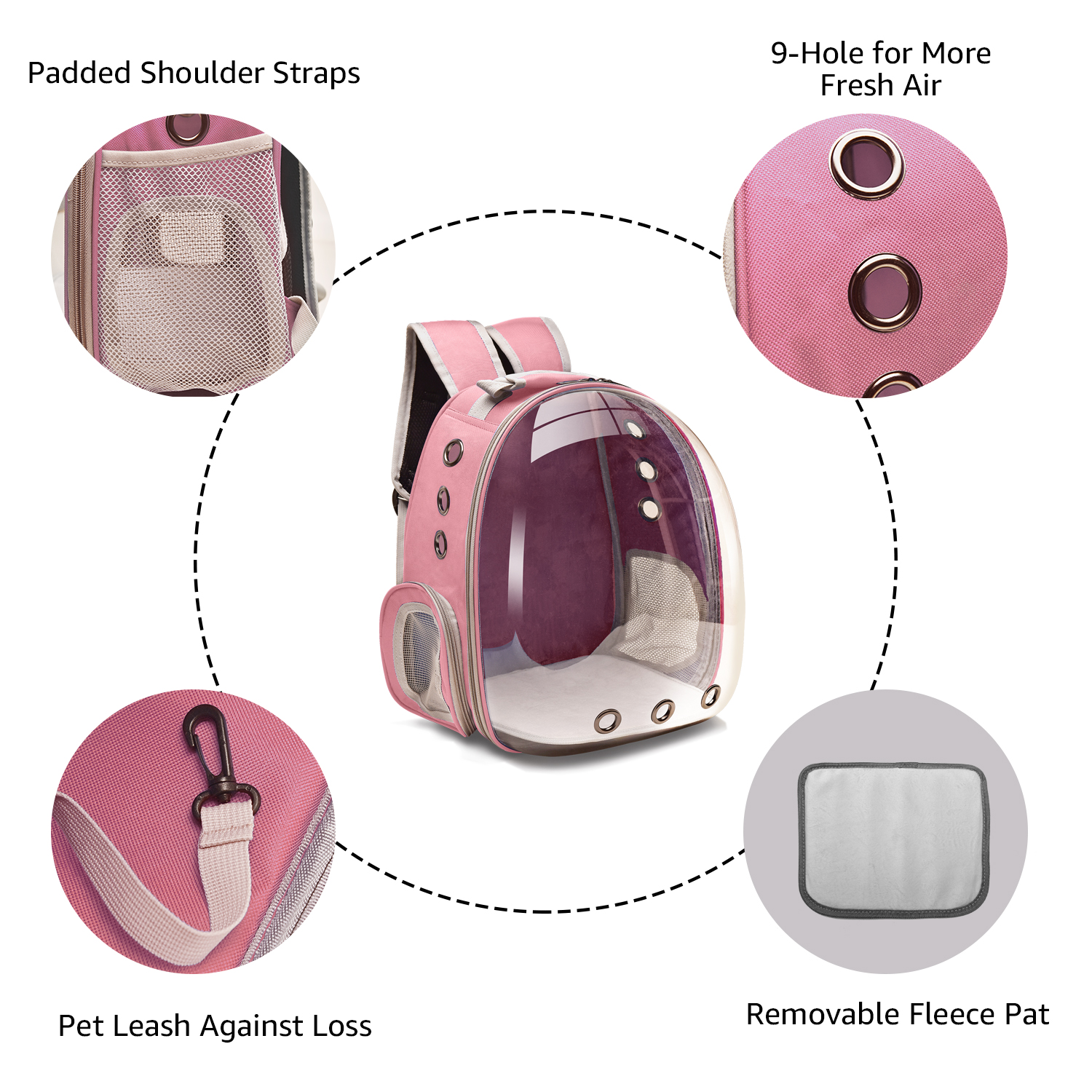 Cat Carrier Bags Breathable Pet Carriers Small Dog Cat Backpack