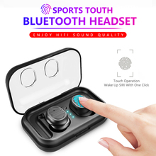 TWS Wireless Earphone Bluetooth 5.0 Touch Control True 6D Stereo Bass Active Noise Canceling Sports Earbuds For iPhone huawei
