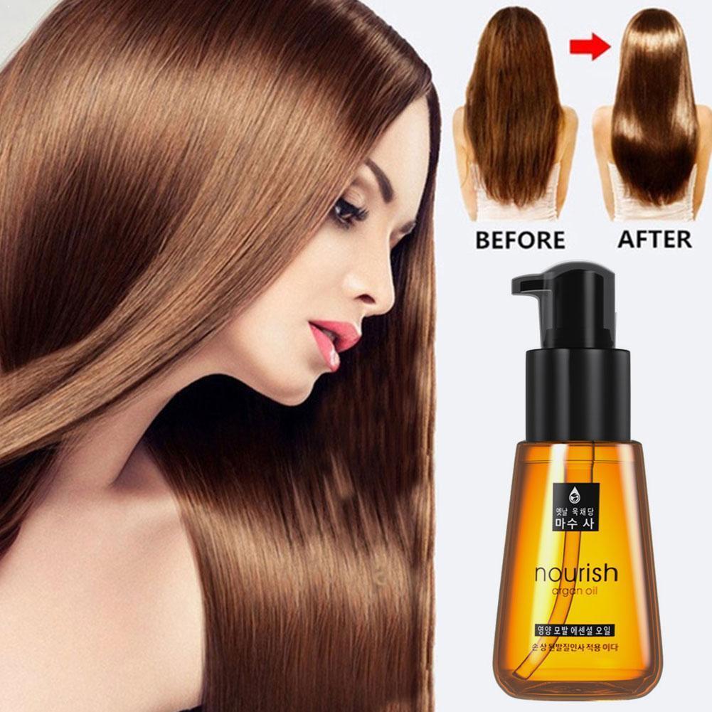 70ml Hair Care Essence Morocco Argan Oil Hair Conditioners Damaged Nourishing Hair Oil Essential Treatment Repair F0Z5