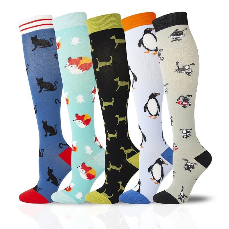 De compresso meias joelho alta feliz sportrs compresso alvio varicosas da dor veias meias masculinas meias anti fadiga