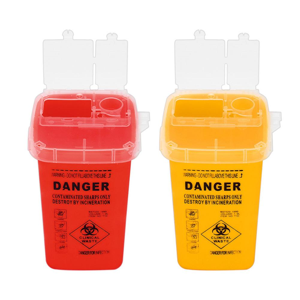 Tattoo Needle Tip Danger Biohazard Gathering Barrel Garbage Bucket Container Eco-Friendly  Storage Container  Safe Convenient