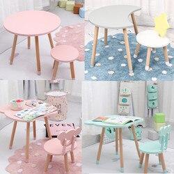 Drop Verschiffen Hochwertige Holz Kinder Studie Tisch und Stuhl Kindergarten Stuhl Bureau Moderne Holz Hocker für Kinder Zimmer Dekor