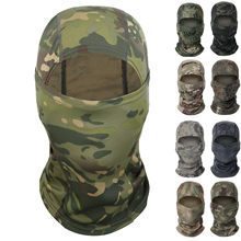 Multicam Tactical Balaclava Army Military Airsoft Full Face Mask Wargame Camo Hat Cycling Hunting Neck Face Shield Camo Scarves