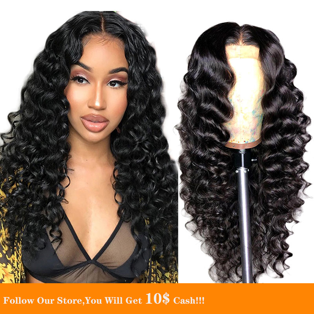 Loose Wave Long Black Lace Front Wigs Human Hair 13x6 Pre Plucked And Wavy Virgin Malaysia Hair HD Wig Natural Looking